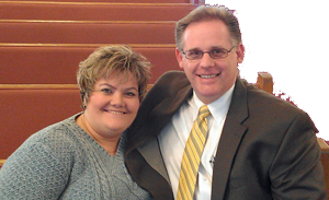 Pastor Michael Huffman and wife Julie
